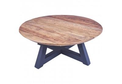 Table basse ronde BUKIT en vieux teck