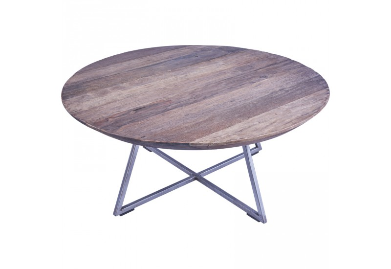 table basse ronde bogor 60 cm en teck pour salon koh deco. Black Bedroom Furniture Sets. Home Design Ideas