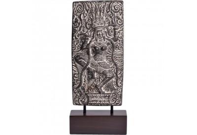Statuette de divinité en ciment