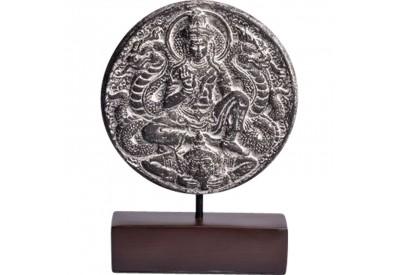 Statuette de divinité ronde en ciment