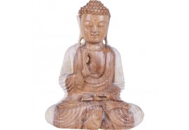 Sculpture de Bouddha Bénédiction en Suar 30 cm