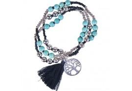 Bracelet Arbre de vie - Noir