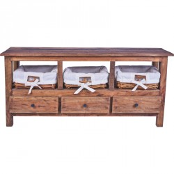 Meuble TV 3 tiroirs KALAK en bois recyclé