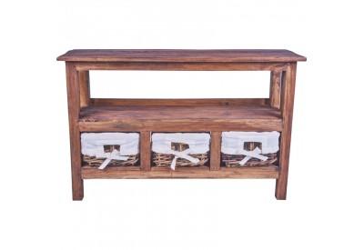 Meuble TV avec niche KALAK en bois recyclé