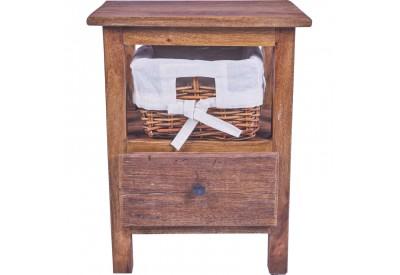 Chevet avec tiroir en bois exotique - chambre | Koh Deco