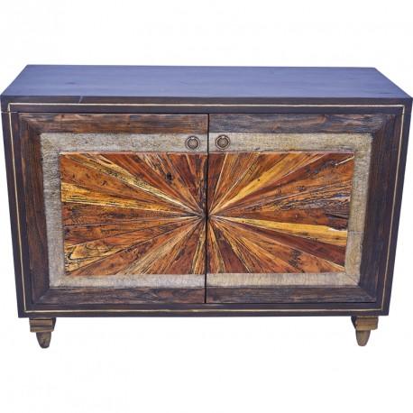 Bahut 2 portes en bois mahogany pour le salon koh deco - Salon de jardin en bois mahogany tropical ...