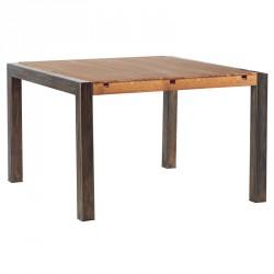 table repas carr e l 125 cm scott casita en ch ne m tal. Black Bedroom Furniture Sets. Home Design Ideas