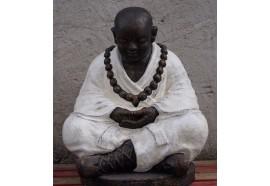 Statue de moine Shaolin 100 cm - Blanc