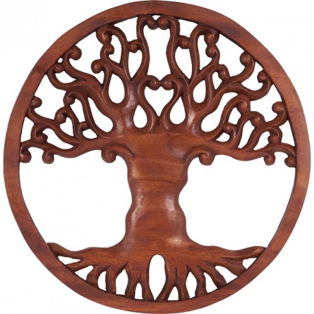 D co murale arbre de vie en bois suar deco bali koh deco for Decoration murale arbre de vie