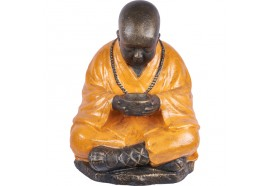 Statue de moine Bouddhiste 100 cm - Orange