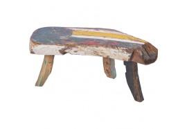 Banc Cita en bois de bateau recyclé