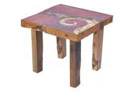 Table basse Cupak en bois de bateau recyclé