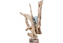 Vase Bantul sur teck flotté - Grand Modèle