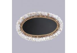 Miroir ovale en coquillage
