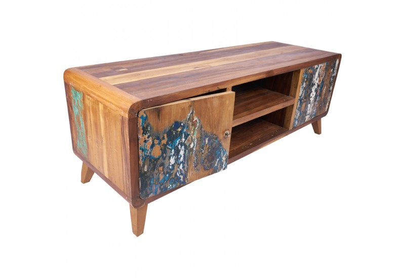 meuble tv tapan 140 cm en bois recycl de bali koh deco. Black Bedroom Furniture Sets. Home Design Ideas