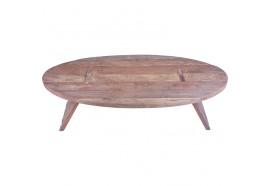 Table basse ovale Pangku en vieux teck