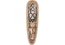 Masque Maori Haka en bois