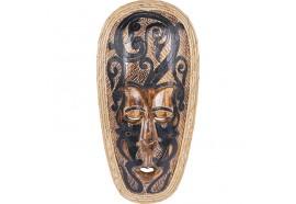 Masque Maori Moko en bois