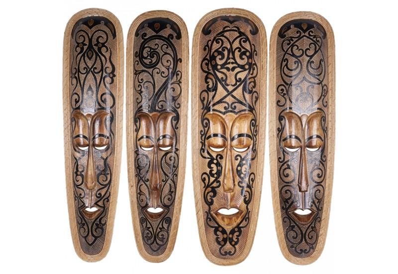 Maori Tapu: Masque Polynésien Maori Tapu En Bois - Objet Déco