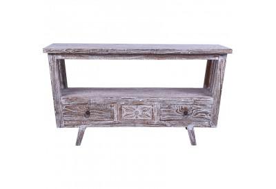 meuble tv gili en bois de teck recycl salon koh deco. Black Bedroom Furniture Sets. Home Design Ideas