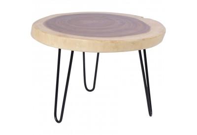 Table basse ronde Madi en bois & métal