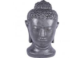 Statue tête de Bouddha 70 cm - Gris