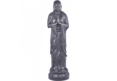 Statue Moine Shaolin Bienvenue 120 cm - Gris