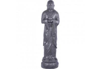 Statue Moine Shaolin Offrande 120 cm - Gris