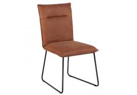 Chaise en cuir Havane - CASITA