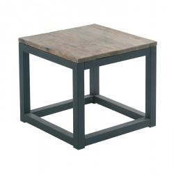 Table Basse Recyclé Casita Bois Cross Carrée En nk0O8wP