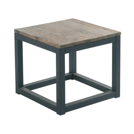 Basse Table CasitaKoh Cross Carrée Bois Deco En nkO0wP