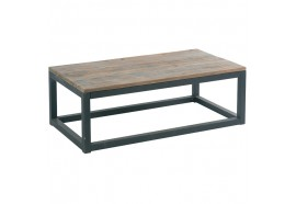 Table basse en sapin recyclé Cross - CASITA
