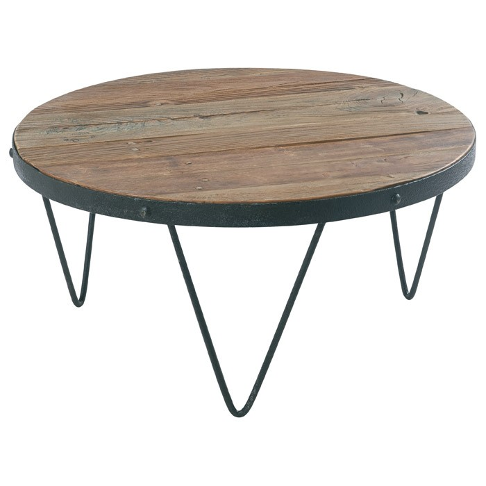 Table En Cross Ronde Casita Bois Basse Recyclé gf76yYb
