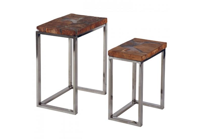 Table Gigogne Essa En Teck Et Resine Pas Chere Koh Deco