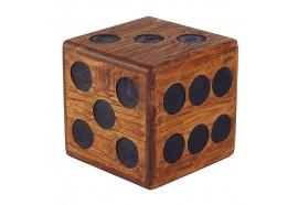 Tabouret carré Dé en bois mindi