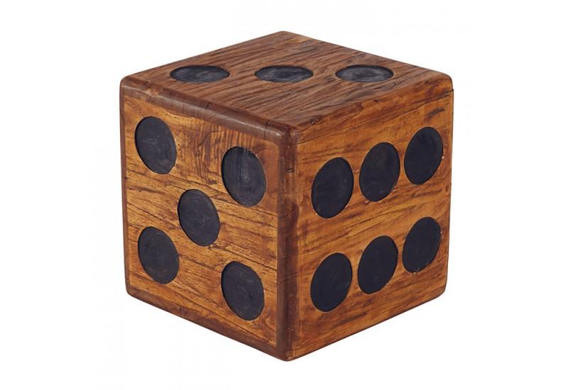 tabouret carr d en bois massif pour le salon koh deco. Black Bedroom Furniture Sets. Home Design Ideas