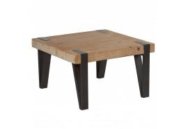 Table basse carrée Tecya en bois & métal - CASITA