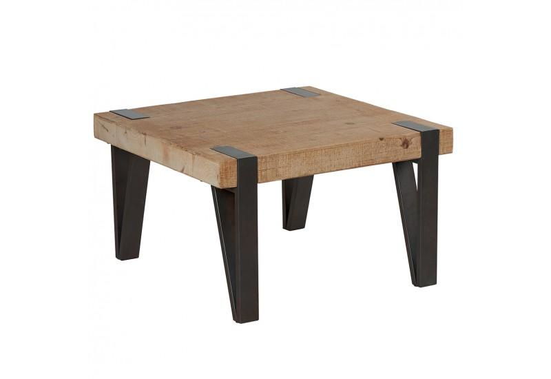 taille 40 08d8a f1f9c Table basse carrée Tecya en bois & métal - CASITA