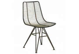 Chaise marron en métal - CASITA