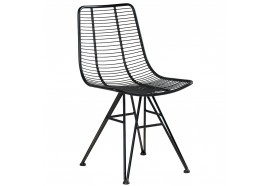 Chaise en métal noir - CASITA