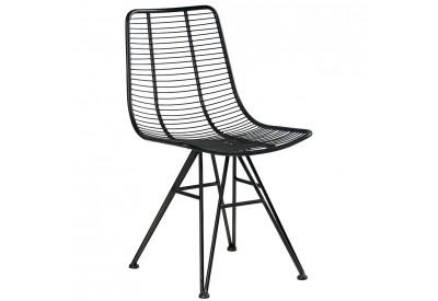 chaise design en m tal noir de casita deco koh deco. Black Bedroom Furniture Sets. Home Design Ideas