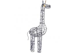 Girafe Duti en Métal Gris 40 cm