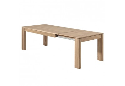Table en chêne Bunbury 180 cm & allonge - CASITA