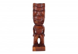 Tiki polynésien Ku en bois exotique - 50 cm