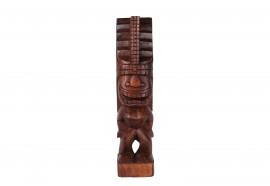 Tiki polynésien Lono en bois 50 cm