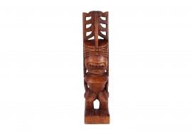 Tiki polynésien Akua Kai en bois 50 cm