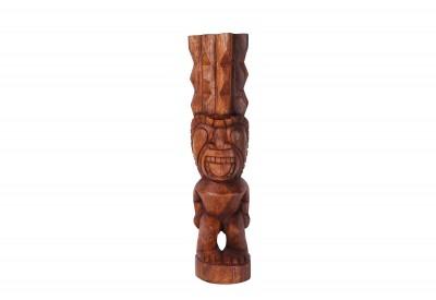 Tiki polynésien KANALOA en bois 50cm