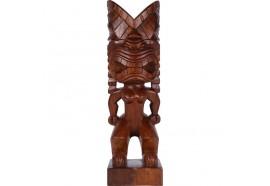 Tiki polynésien Kiano en bois 60 cm