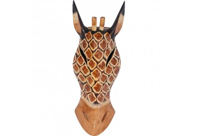Déco murale masque Girafe Kono bois 30 cm