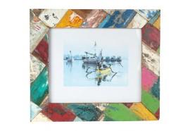 Cadre photo Pera en bois de bateau recyclé 30x35 cm